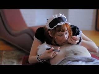 Camille crimson - vöröshajú gives egy francia takarítónő leszopás