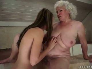 lezbični seks, stare in mlade, hd porn