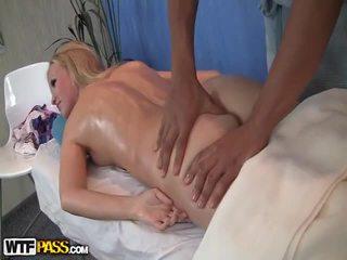 Hot Blondie Has Cute Massage