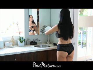 PureMature mom takes 12-inch cock