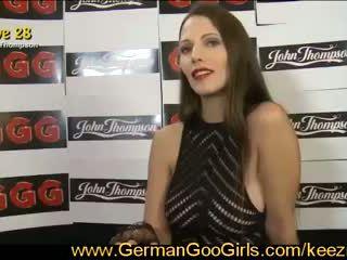 Hot Viktoria auditions for bukkake orgy