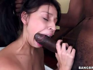 Gagging Petite Latina With Black MonsterCock