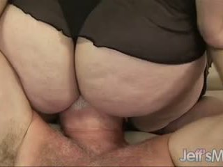 BBW Angelina's titanic body & cunt get a guy off