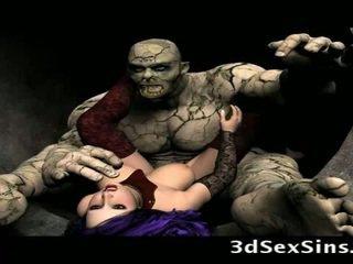 Scary ogres bang 3d kanak-kanak perempuan!