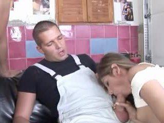 British slut Sahara Knite in a FFMM foursome