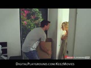 Manuel ferrara - big-tit blondinė seduces jos vyras šviežias iš apie the dušas