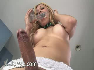 Pretty Blond with brutal dong