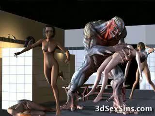 Aliens bang al 3-lea fete!