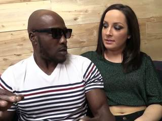 Huge black cock punishing one tight and wet pussy in interracial porn with a snazzy white chick