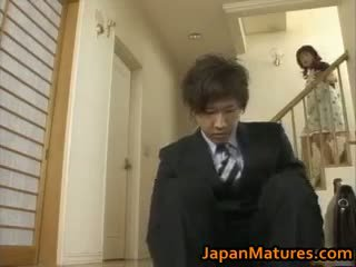 брюнетка, японський, груповий секс, великі сиськи