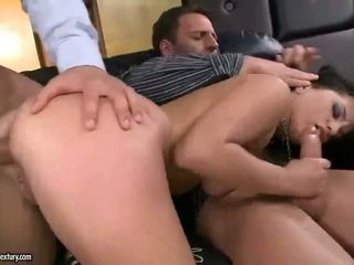 Sexy Brunette Rides Massive Shaft
