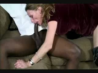 Mature wife throats black cock