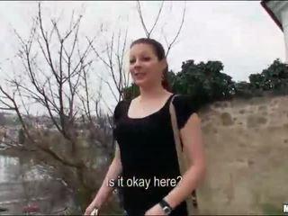 Iveta fucked by stranger near the lake