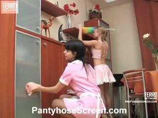 Alina And Catherine Nasty Hose Actionion