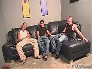 Horny homo porn Three Some