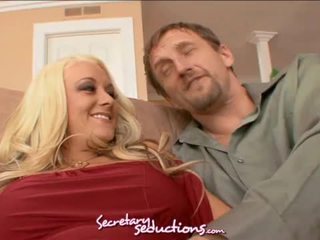 Busty blonde secretary briana blair goes after mark ashley's cock