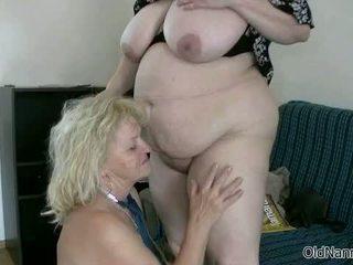 Blonde Granny Loves Having Lesbian Sex