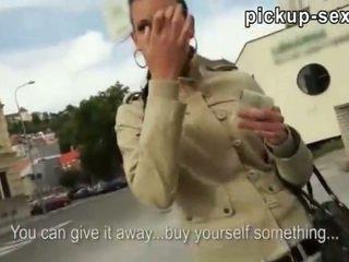 Czech slut Tea Key screwed up in public