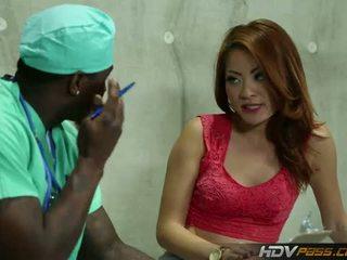 HDV Pass: Cute Kim Blossom takes black cock