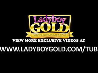 Ladyboy Candy Wide Open Bareback Drill