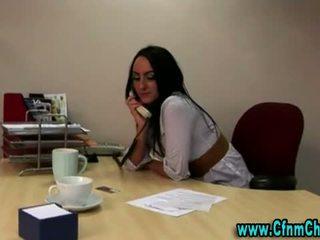 Seksikäs cfnm toimisto vauva video-