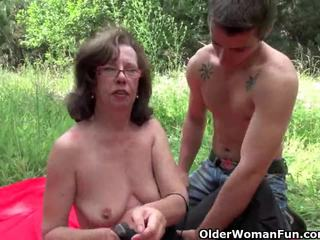 Mbah gets her asshole invaded outdoors
