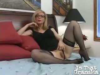 Stockinged Blonde Granny Nina Hartley Showing And Rubbing