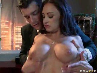 any black hair nice, nice massive tits, real office fuck