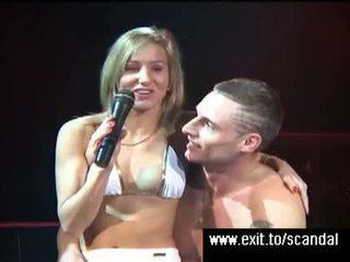 Orgasm contest at public sex event Video