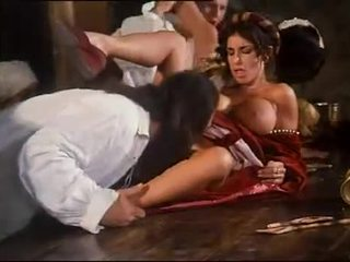 Busty Sarah Young in retro porn