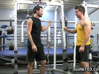 David Scott And Luke Marcum. Gym Fucking.