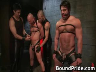 gay, gagged, bound, gangbang