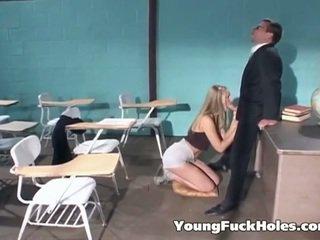 Blonde schoolgirl fucked by her teacher
