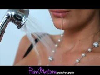 PureMature Phoenix Marie shower sex