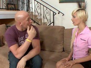 Stunning blond maid is a sperm thief