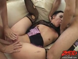 Netted Babe Deja Daire Receives A Ramrod Drilling In This Guyr Warm Mouth