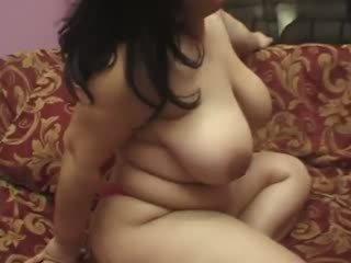 Horny chubby slut wants two hard dicks for herself