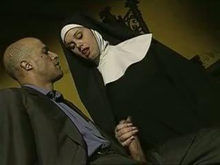 sexig, otäckt, italiensk, nuns