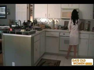 brunettes, แม่, ห้องครัว