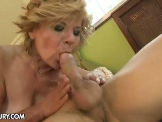 Lusty Grandmas: MILF gets her hairy cunt stuffed by a stud