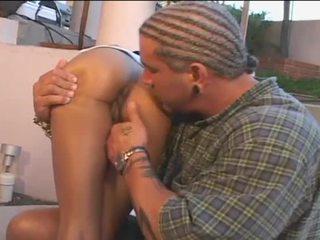 Tight ebony asshole entered by big black cock