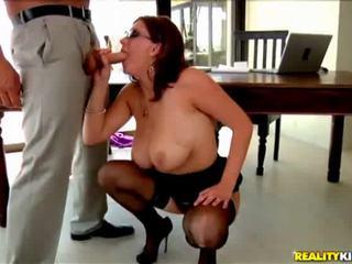 big boobs, natural tits, massive tits, desk