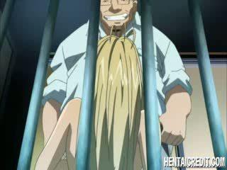 Forced manga blondie gives head