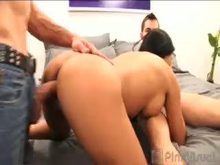 brunette, threesome, hardcore
