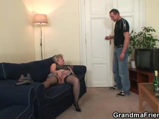 Babica takes two cocks po masturbation