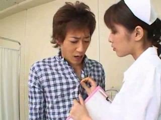 Sexy hot asia jepang perawat gives hot bukkake to her patient