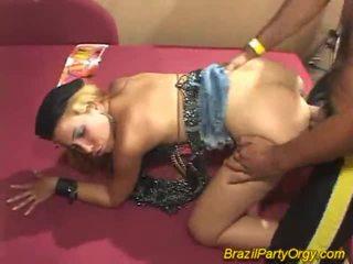 Blonde smaba dancer are banged à fête