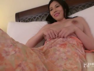 Teen Asian babe with big tits works this night.