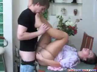 Ryska momen och son strumpbyxor fetish kön