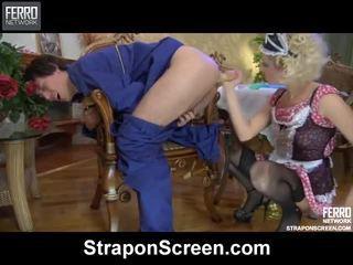 Смесвам на видеоклипове от колан с пенис екран